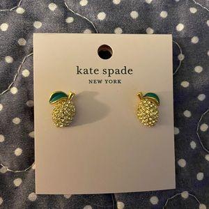 Kate Spade gold lemon 🍋 earrings NWT